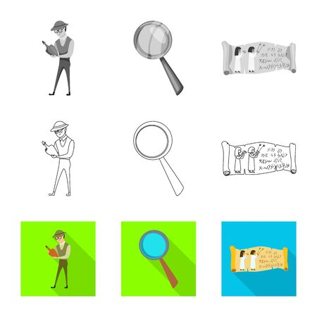 Vector design of story and items icon. Set of story and attributes vector icon for stock. Standard-Bild - 129040040