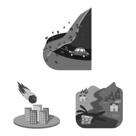 Isolated object of nature and apocalypse icon. Collection of nature and environment vector icon for stock.