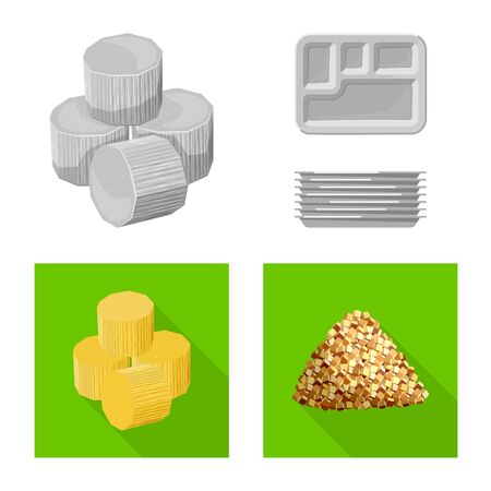 Isolated object of farm and agriculture icon. Collection of farm and technology stock symbol for web.