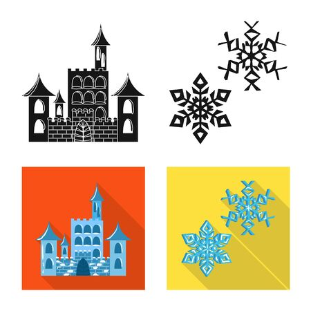 Vector illustration of texture and frozen logo. Set of texture and transparent stock symbol for web.