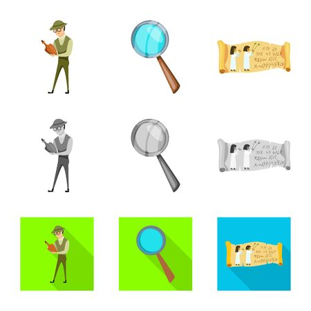 Vector design of story and items icon. Collection of story and attributes stock vector illustration. Standard-Bild - 129039936