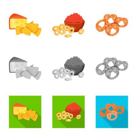 Vector design of taste and seasonin symbol. Set of taste and organic vector icon for stock.