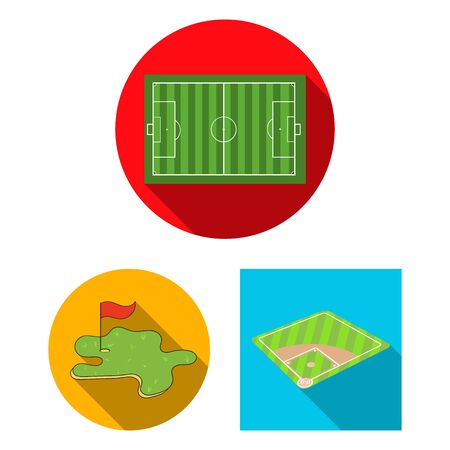 bitmap design of field and sport symbol. Collection of field and game bitmap icon for stock. Banque d'images - 129111194