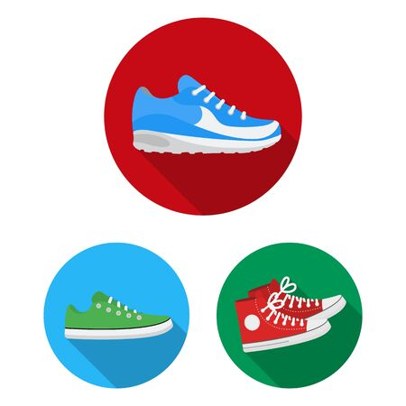 Isolated object of shoe and sport symbol. Collection of shoe and fitness bitmap icon for stock.