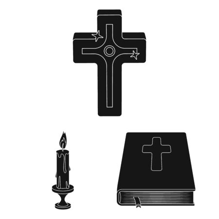 bitmap design of muslim and items . Collection of muslim and candle stock symbol for web.