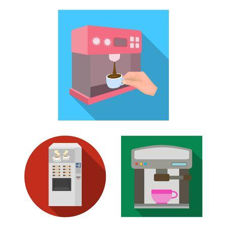 bitmap design of coffee and machine icon. Collection of coffee and kitchen bitmap icon for stock.