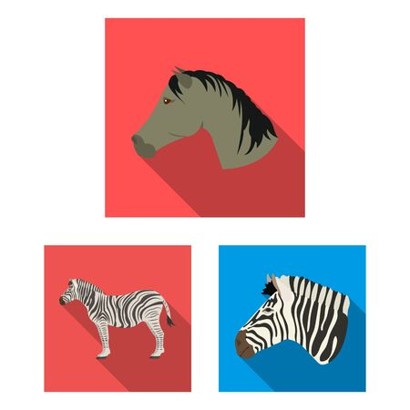 Isolated object of trot and running symbol. Collection of trot and clipart stock bitmap illustration. Stock Photo