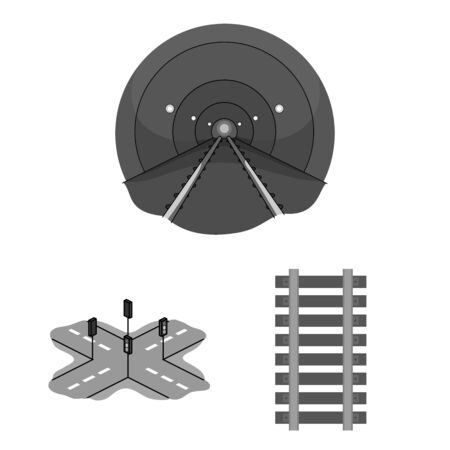 bitmap illustration of road and street symbol. Set of road and highway bitmap icon for stock.