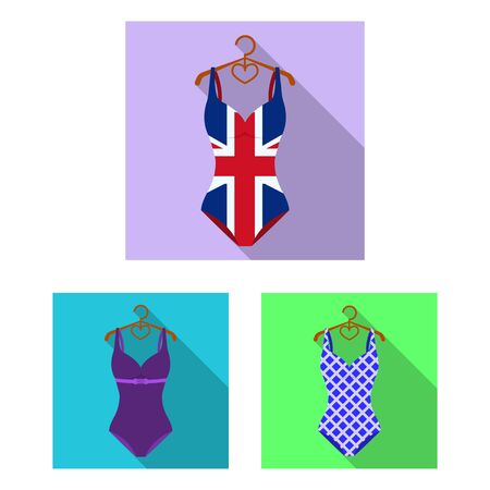 bitmap design of bikini and fashion icon. Set of bikini and swimsuit bitmap icon for stock. Stock fotó