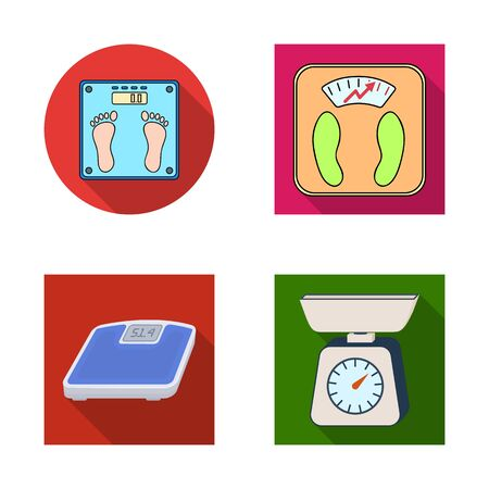 bitmap design of weight and lab. Collection of weight and kitchen bitmap icon for stock.