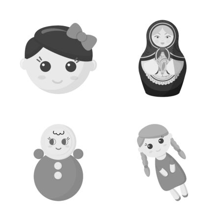 Isolated object of toy and pretty sign. Collection of toy and cute bitmap icon for stock.