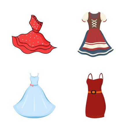 bitmap design of dress and clothes symbol. Collection of dress and evening bitmap icon for stock. Banque d'images - 129116694