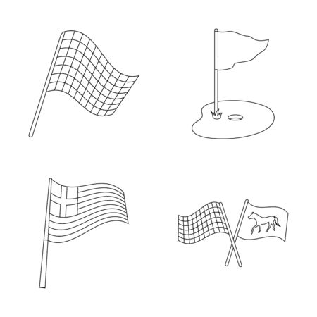 bitmap design of world and flag symbol. Collection of world and ribbon stock symbol for web.
