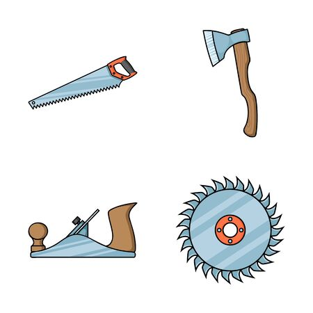 bitmap illustration of tool and construction symbol. Collection of tool and carpentry stock bitmap illustration.
