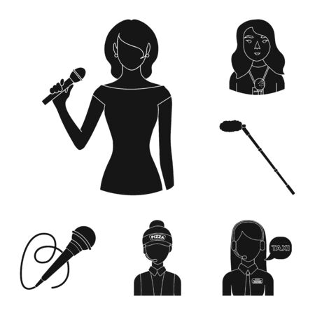 bitmap design of karaoke and music icon. Set of karaoke and club stock bitmap illustration. Stockfoto
