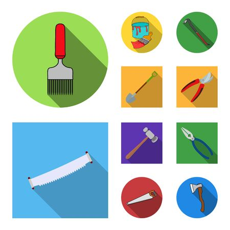 bitmap design of tool and construction. Set of tool and carpentry stock bitmap illustration. Zdjęcie Seryjne