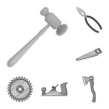 bitmap illustration of tool and construction. Collection of tool and carpentry bitmap icon for stock. Zdjęcie Seryjne