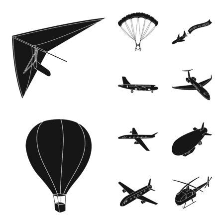 bitmap illustration of transport and object symbol. Collection of transport and gliding stock symbol for web. Stockfoto