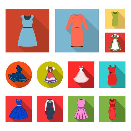 bitmap design of dress and clothes sign. Collection of dress and evening stock bitmap illustration. Archivio Fotografico - 129129691