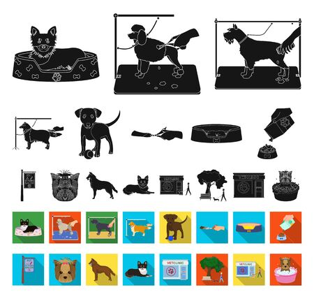 Pet black,flat icons in set collection for design. Care and education bitmap symbol stock web illustration.