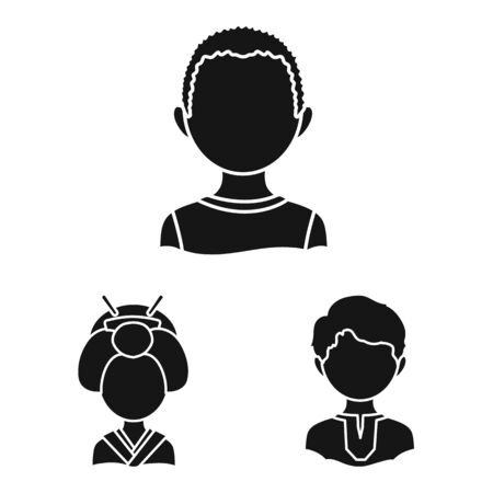 Vector design of person and culture icon. Collection of person and race stock vector illustration.