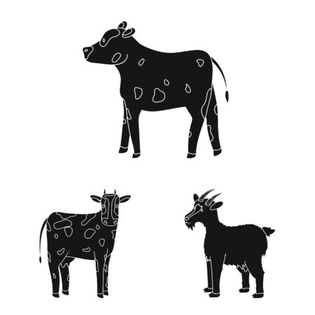Vector illustration of ranch and organic symbol. Collection of ranch and food vector icon for stock.