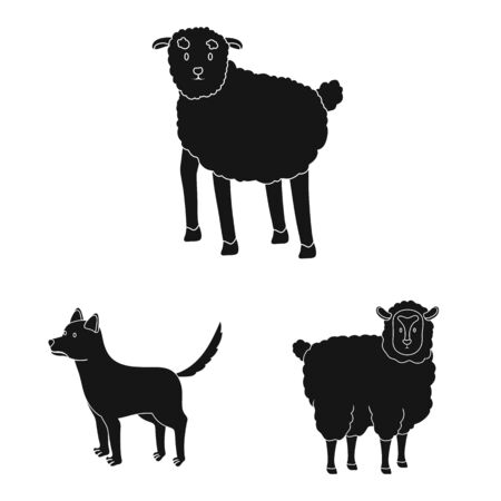 Vector illustration of ranch and organic icon. Set of ranch and food stock vector illustration.