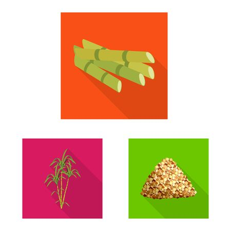 Isolated object of plant and plantation . Collection of plant and agriculture vector icon for stock. Ilustração