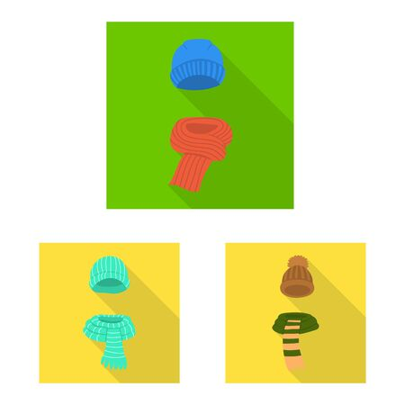 Vector design of shopping and warm . Set of shopping and texture vector icon for stock.