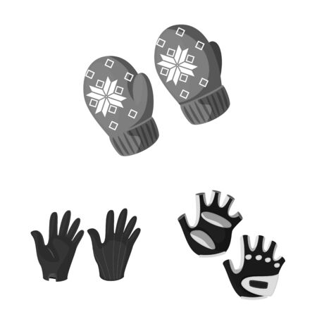 Isolated object of property and distinctive symbol. Collection of property and textile vector icon for stock. Ilustrace