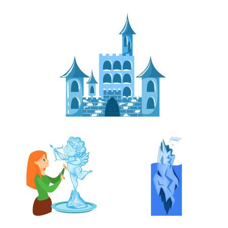 Vector design of frost and water icon. Set of frost and wet stock vector illustration.