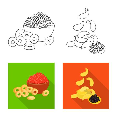 Vector illustration of taste and seasonin symbol. Set of taste and organic vector icon for stock. Stock Illustratie