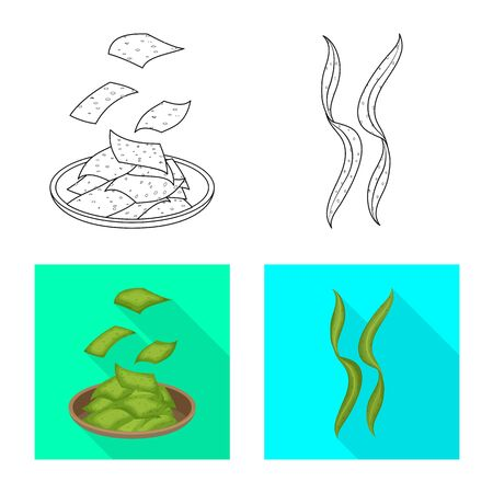 Isolated object of protein and sea . Set of protein and natural vector icon for stock.