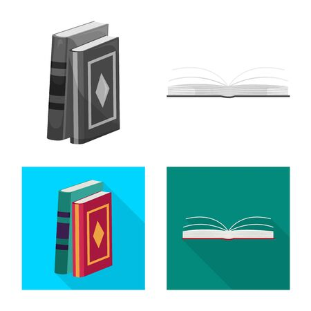 Isolated object of training and cover sign. Set of training and bookstore vector icon for stock.