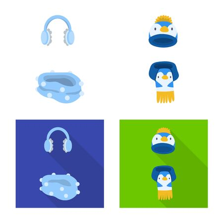 Vector design of clothes and texture icon. Collection of clothes and weather vector icon for stock. Ilustrace