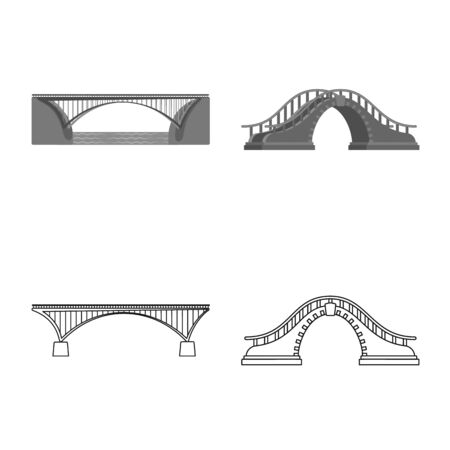 Vector illustration of connection and design icon. Set of connection and side stock vector illustration. Standard-Bild - 129175249