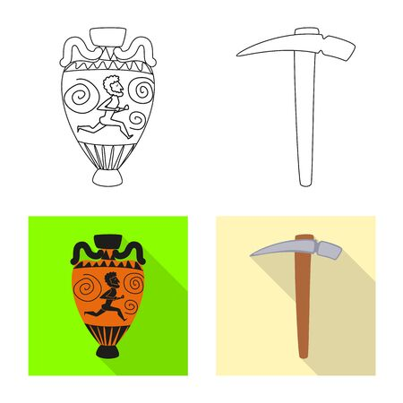 Vector design of story and items sign. Collection of story and attributes stock symbol for web. 일러스트