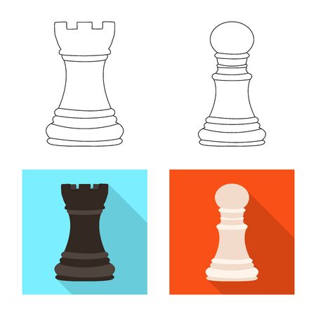 Vector design of checkmate and thin . Collection of checkmate and target stock vector illustration.