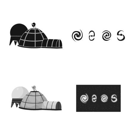 Isolated object of astronomy and technology icon. Set of astronomy and sky stock symbol for web. Stock Illustratie