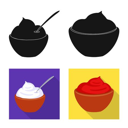 Isolated object of taste and product . Set of taste and cooking stock vector illustration. 일러스트