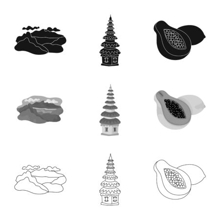 Isolated object of and travel icon. Set of and traditional stock vector illustration. 向量圖像