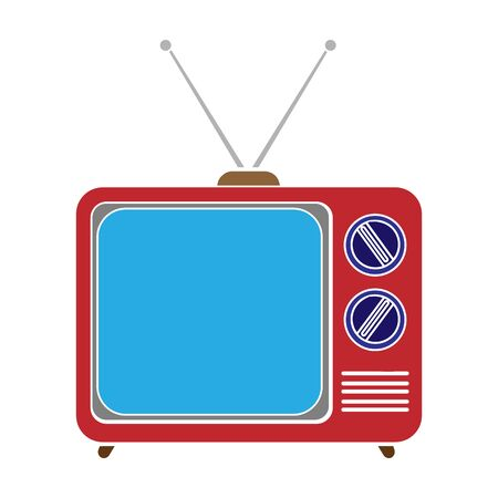Television advertising icon in colour style isolated on white background. Advertising symbol stock vector illustration. Standard-Bild - 129175797