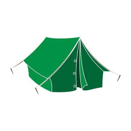 Tourist tent.African safari single icon in colour style vector symbol stock illustration web.