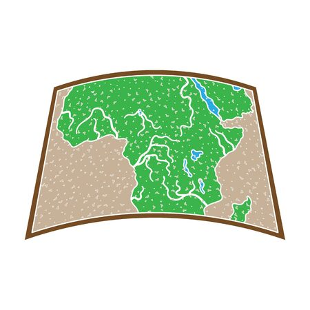 Map of mainland Africa.African safari single icon in colour style vector symbol stock illustration web.