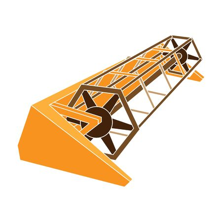 Metal attachment to the tractor for the harvest. Modern agricultural machinery.Agricultural Machinery single icon in colour style vector symbol stock illustration.