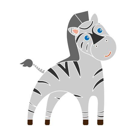 Zebra colour icon. Illustration for web and mobile design.
