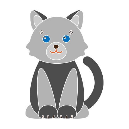 Cat colour icon. Illustration for web and mobile design.