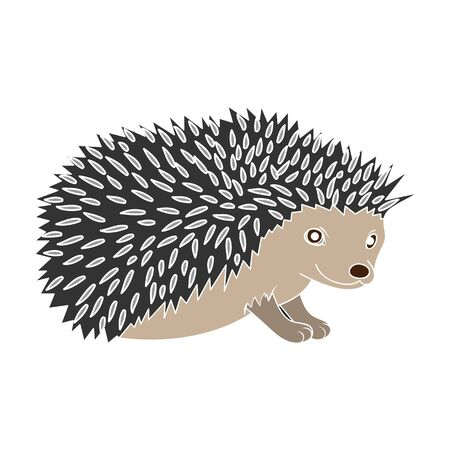 Hedgehog.Animals single icon in colour style vector symbol stock illustration web.