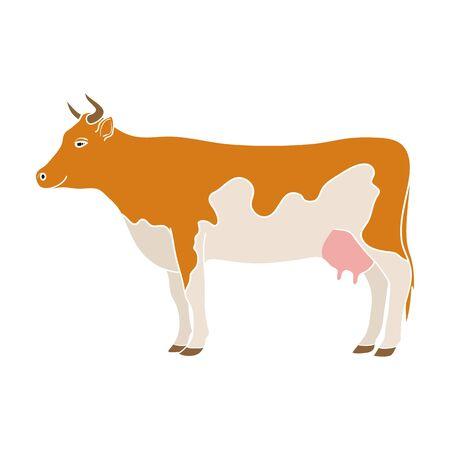 Cow.Animals single icon in colour style vector symbol stock illustration web. Illustration