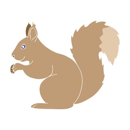 Squirrel.Animals single icon in colour style vector symbol stock illustration web.  イラスト・ベクター素材